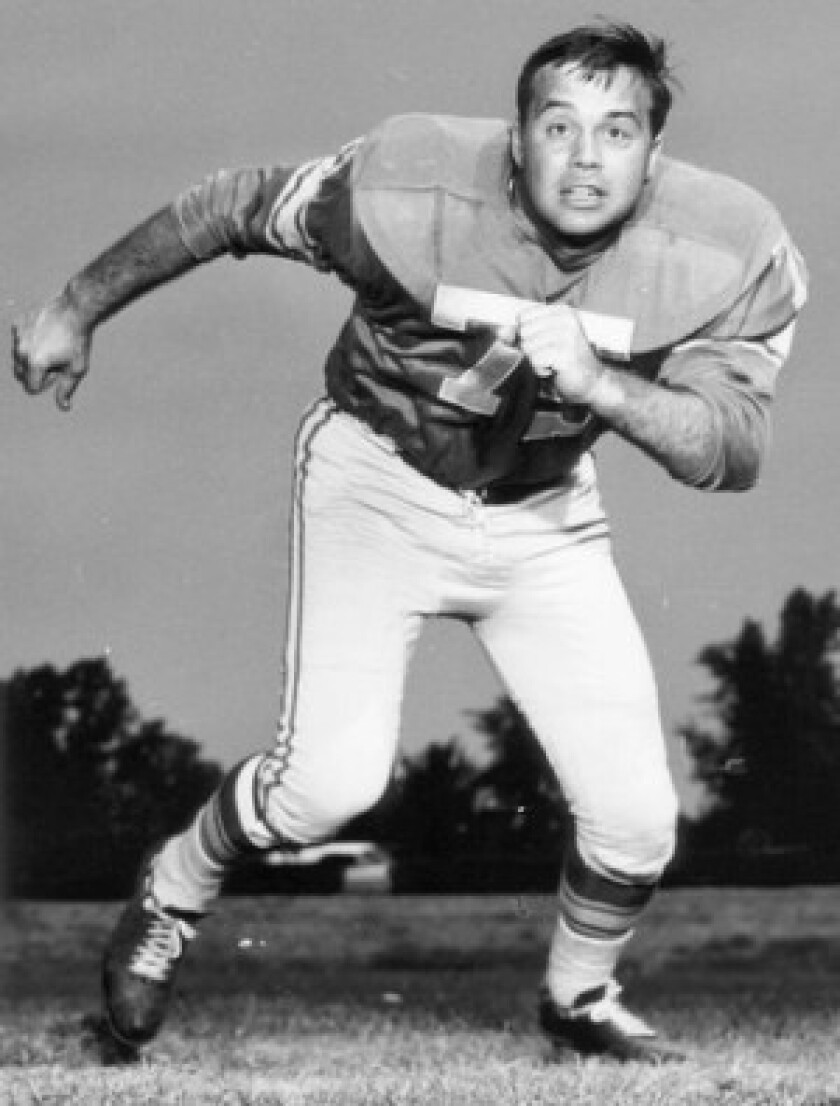 John Gordy, pictured here in 1964 as a member of the Detroit Lions, was head of the NFL Players Assn. when it it negotiated the league's first collective bargaining agreement in 1968. He died of complications from pancreatic cancer at the age of 73.