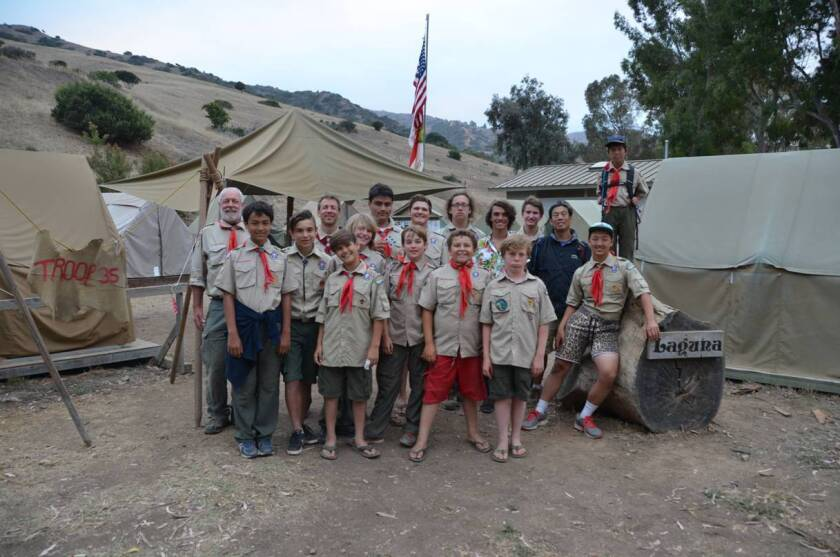 Members of Boy Scouts of America Troop 35 from Laguna Beach spent six days participating in various activities such as scuba diving and basketry at the Emerald Bay Scout Camp on Catalina Island in August.