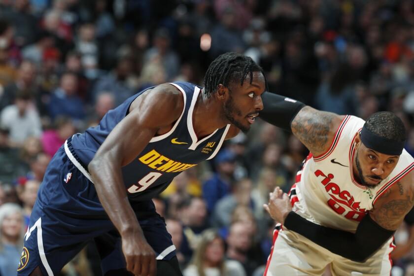 Trail Blazers Nuggets Basketball