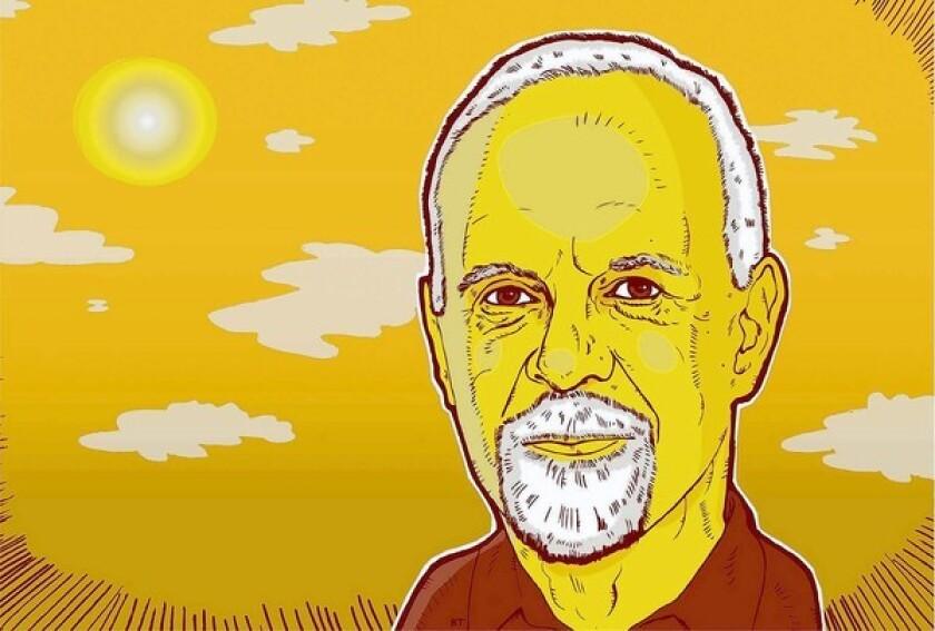 Illustration of Steve Lopez.
