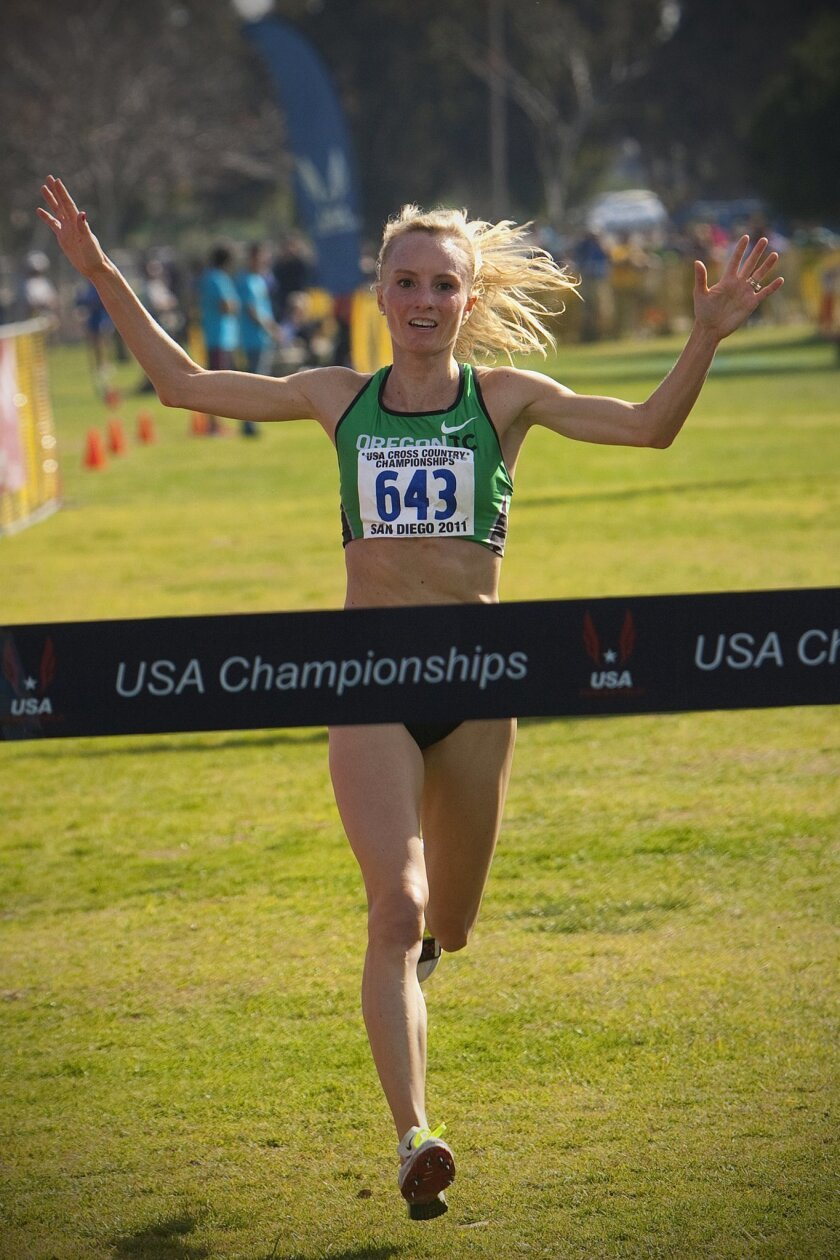 At the USA Track & Field Cross Country National Champions in San Diego, Shalane Flanagan placed first in the Open Women 8Km race.