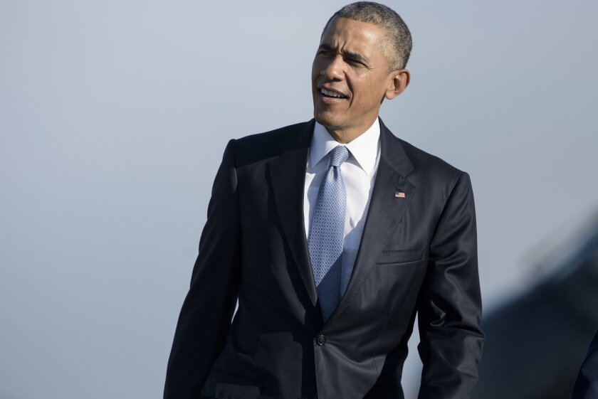 President Obama leaves Washington on Friday on a trip that's bringing him to Los Angeles on Saturday.