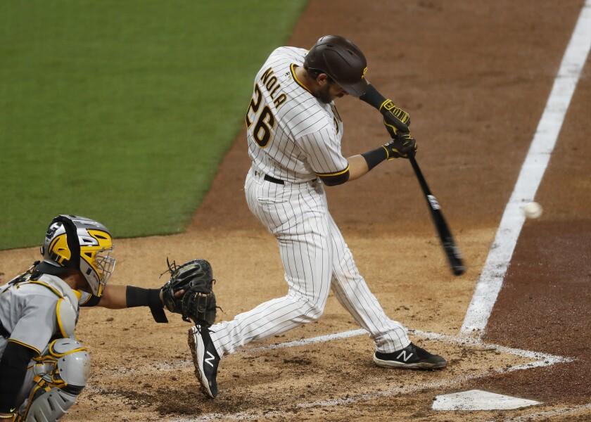 Padres catcher Austin Nola.