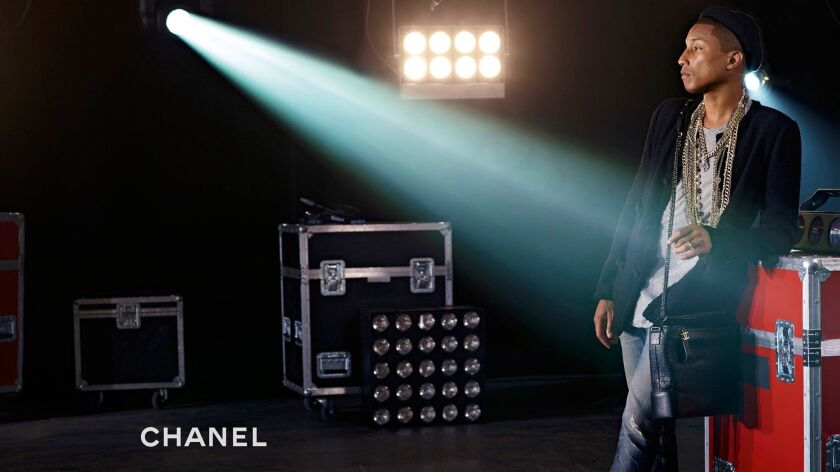 Chanel's new Gabrielle handbag ad campaign features Pharrell Williams as well as Kristen Stewart, Cara Delevingne and Caroline de Maigret.