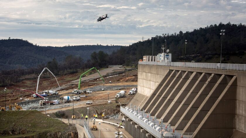 Crews have been working around the clock for almost two weeks repairing the Oroville Dam's spillways.
