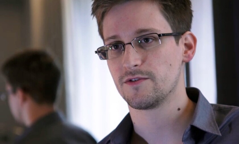 Edward Snowden speaking to Glenn Greenwald in a videotaped interview for the Guardian.