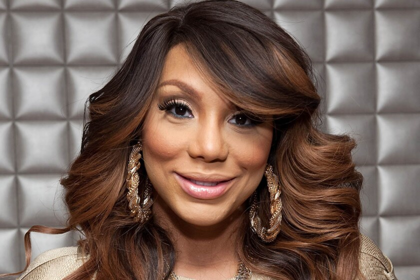 """Tamar Braxton shown last month on BET's """"106 & Park,"""" announced Thursday that she's expecting a baby."""