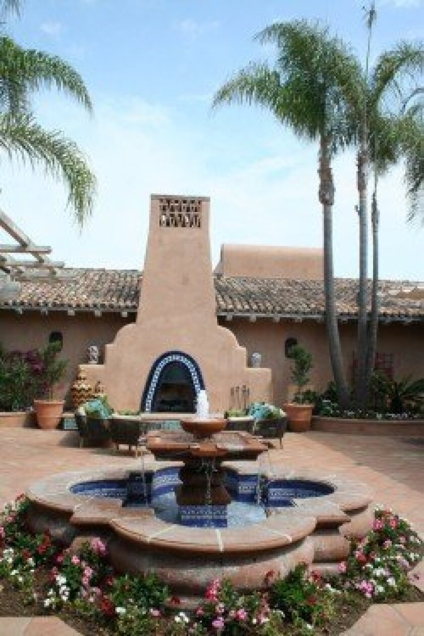 The remodeled courtyard of Rancho Valencia Resort, set to reopen on Oct. 19.