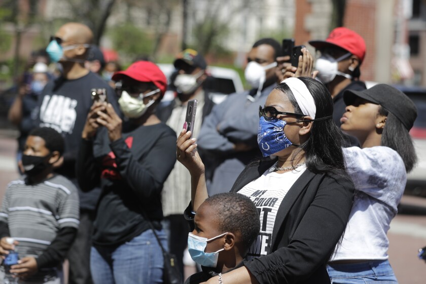 Protesters in Indianapolis