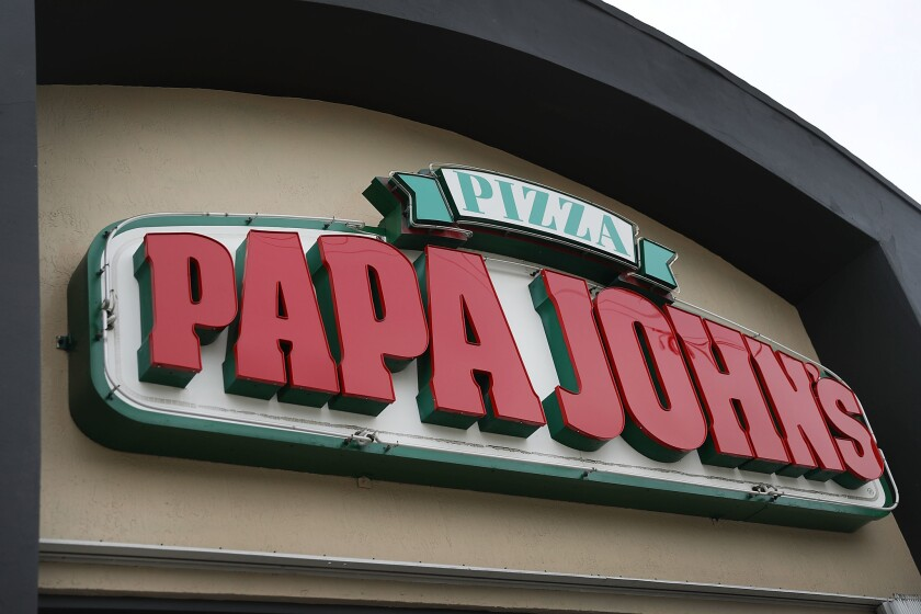 Papa John's released a new commercial Tuesday.