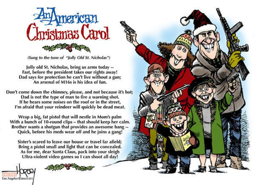 A gun in every Christmas stocking not the best answer to our problem of violence