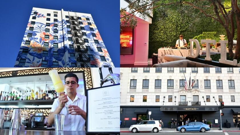 Hotel Figueroa and Mayfair Hotel.