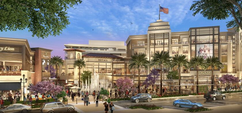 A rendering shows the new Watermark retail, commercial and hospitality project in Scripps Ranch.