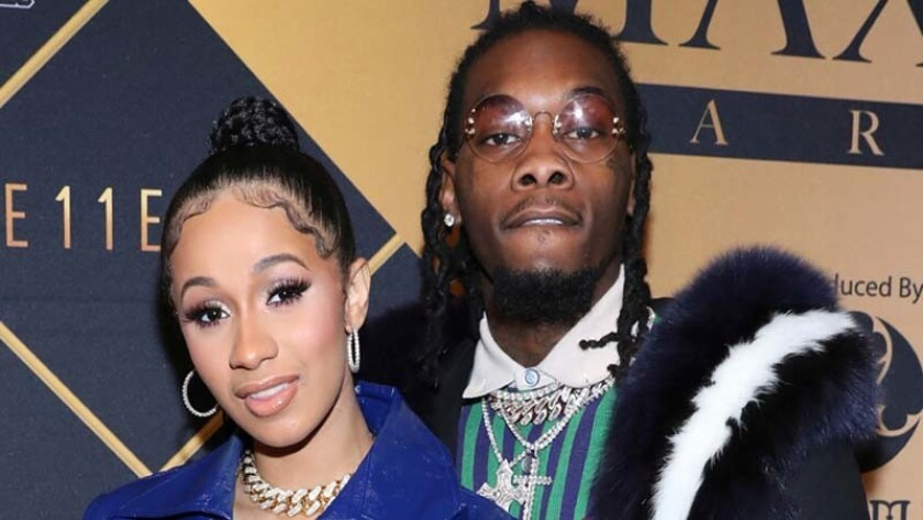Cardi B with her husband, Offset.