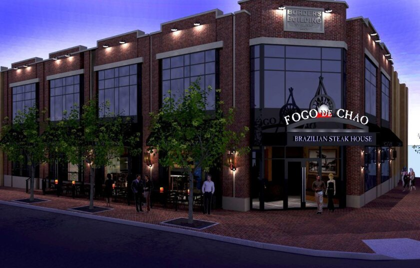 Artist's rendering of Fogo de Chao, scheduled to open in San Diego's Gaslamp Quarter on Aug. 29.