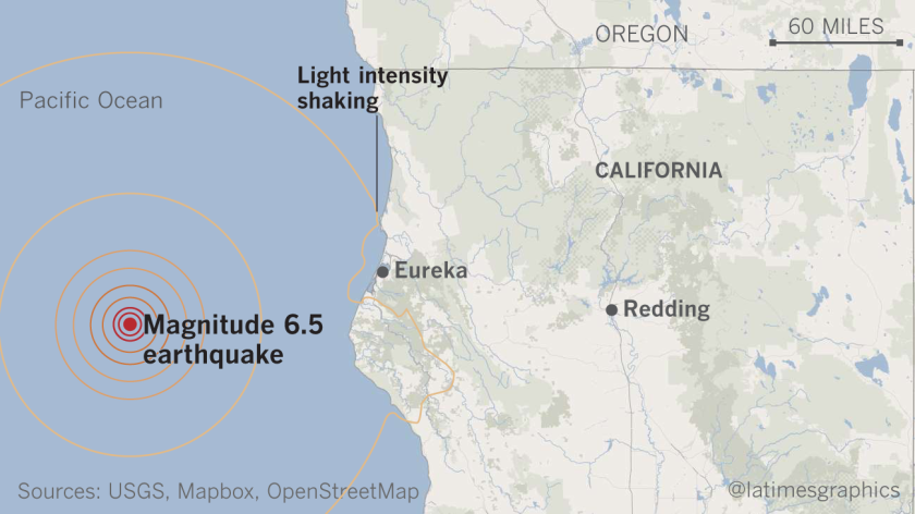 Magnitude 6.5 earthquake hits off Northern California coast ... on northern california town map, beach san diego county cities map, north carolina coast map, la jolla coast map, st. augustine coast map, northern california cities map, northern california beach map, northern kauai map, view northern california map, california coastline map, northern pacific northwest map, northern california desert map, northern california coastal city, northern california storm map, half moon bay coast map, northern wisconsin river map, monterey coast map, southern california map, california indian tribes native american regions map, northern hollywood map,