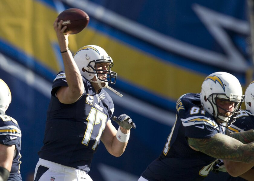 Philip Rivers lets it fly in the second quarter.