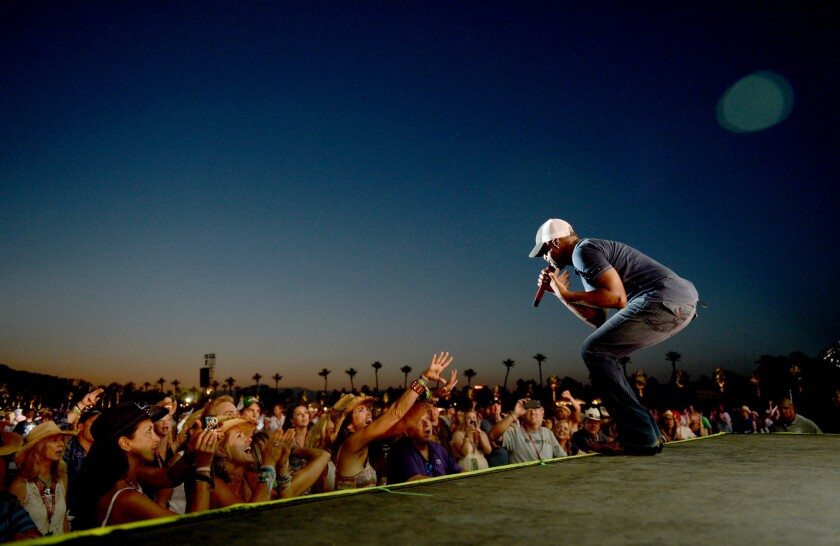 """Darius Rucker performs during the Stagecoach Festival in Indio on April 28, 2013. His new album, """"True Believers,"""" debuted at No. 2"""