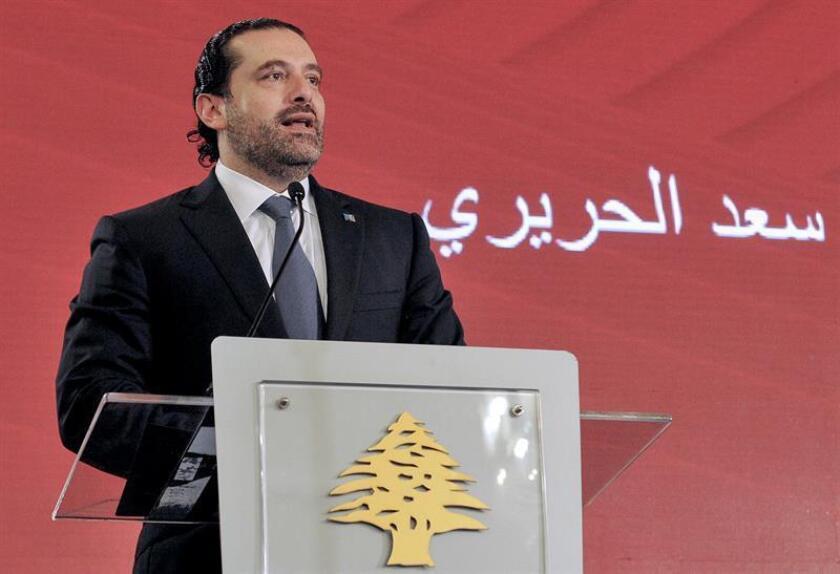 """Estados Unidos confió hoy en que pueda haber un """"proceso político ordenado"""" en el Líbano para reemplazar al primer ministro Saad Hariri, quien dimitió este sábado por sorpresa y al que Washington consideraba """"un socio importante"""". EFE/EPA/SÓLO USO EDITORIAL"""