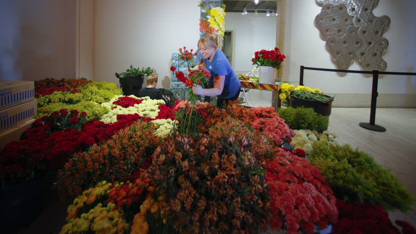 Floral designers interpret famous works of art through flowers during the annual Art Alive fundraiser, benefiting the San Diego Museum of Art.