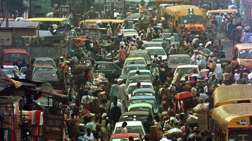 In Lagos, taxis compete with buses, private cars and ride-shares for a chance to move through a city of 22 million people.