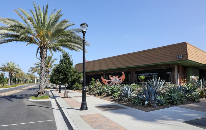 Exterior view of the Flying Pig Pub & Kitchen on S. Santa Ave. in downtown Vista.
