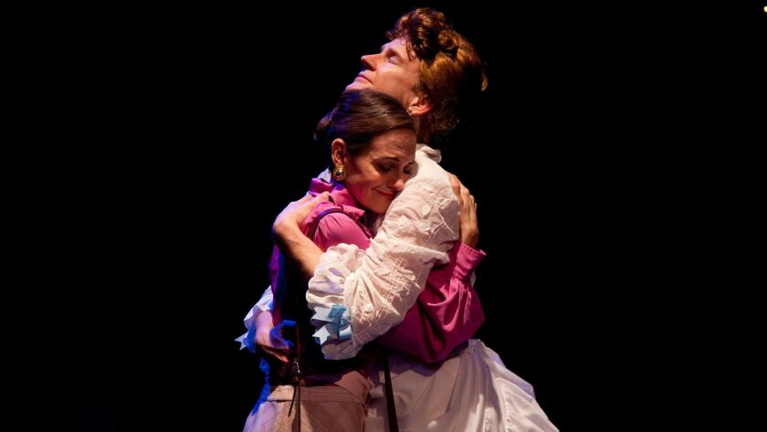 """Deborah Puette and Bill Brochtrup in """"Cloud 9"""" from Antaeus Theatre Company."""
