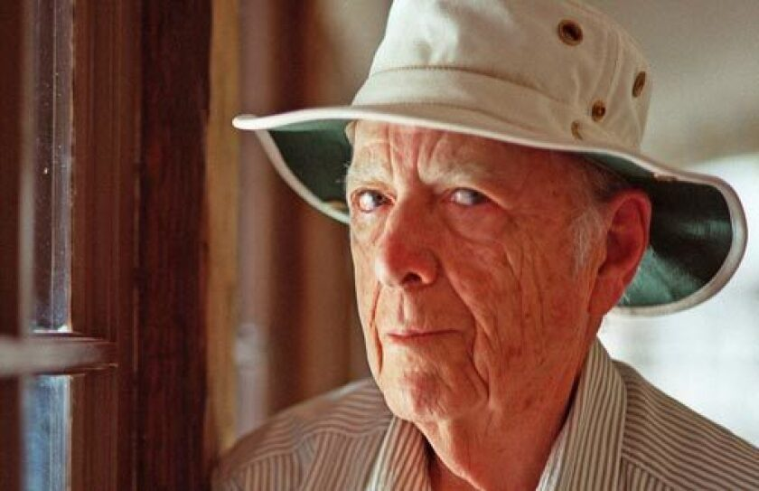 Author Herman Wouk will receive the Library of Congress Award for Lifetime Achievement in the Writing of Fiction. Wouk is shown here in his Palm Springs home in 2000.