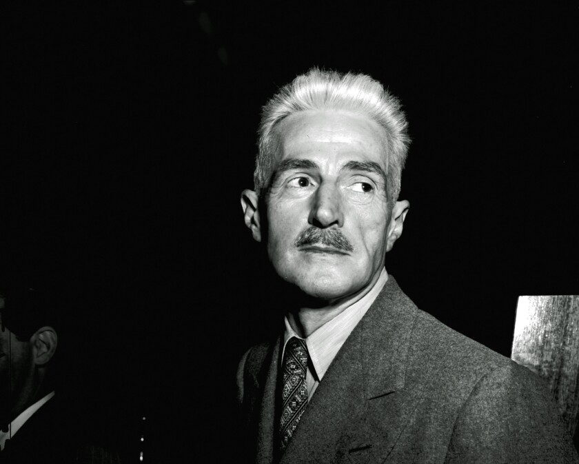 Dashiell Hammett, one of the fathers of detective fiction, in New York in 1947. A collection of his papers and books has been acquired by the University of South Carolina.