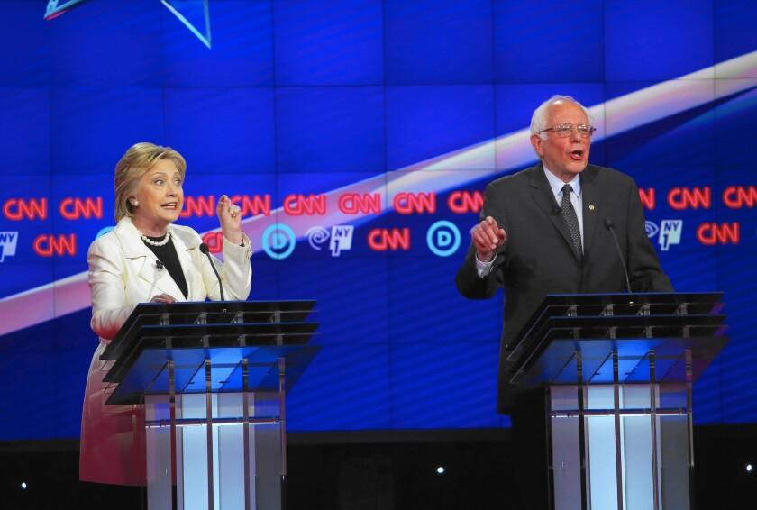 Hillary Clinton, Bernie Sanders and gun control