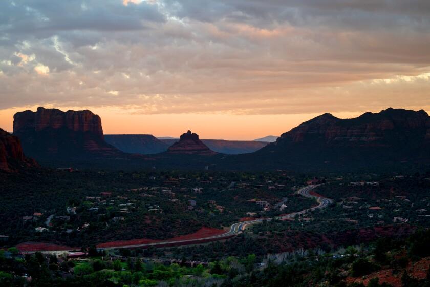 The shot of Arizona's landscape