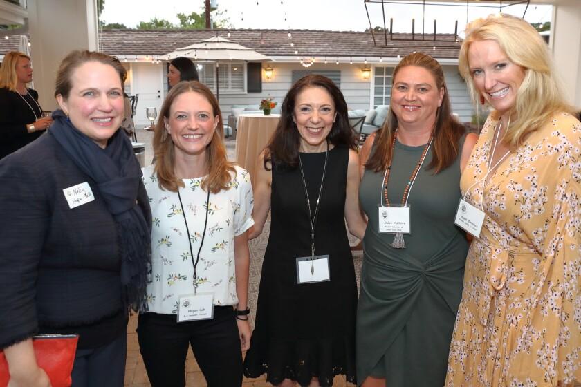 Nelly Hope-Bell, Megan Loh, superintendent Donna Tripi, Dulcy Matthies, Hazel Bentinck