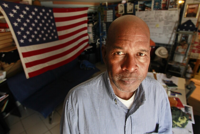 Deported Veteran Roman Sabal at the Deported Veterans Support House