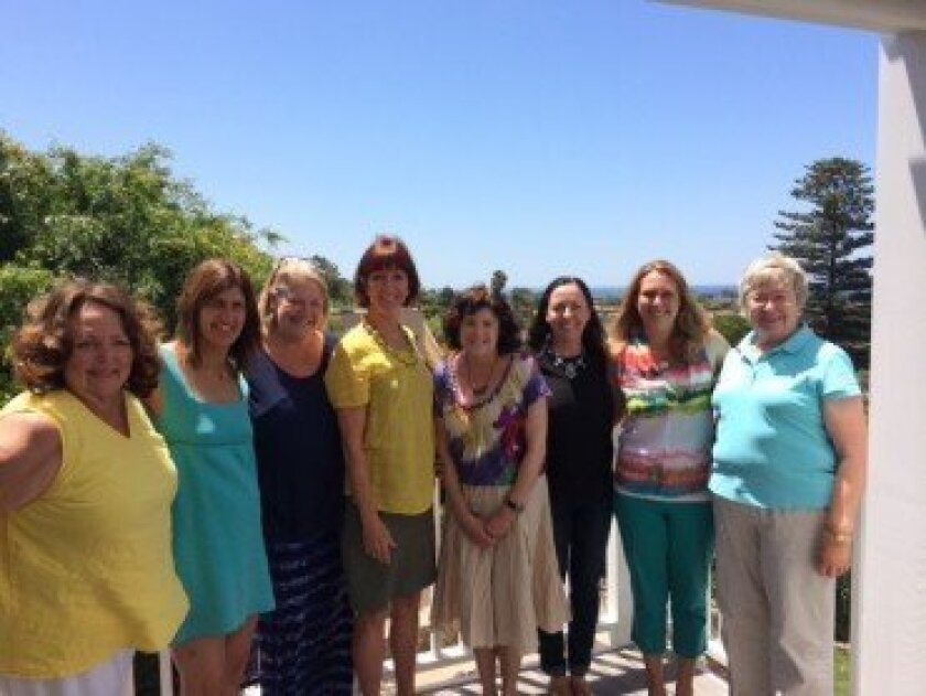 Solana Beach Fund Grants Committee (L-R): Holly Smith Jones, Sharon Leib, Nancy King, Nancy Giberson, Ann Rybowiak, Monica Boyd, Laura Fleming and Marion Dodson. Not pictured: Holly Lewry and Kim Quinney.