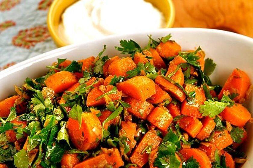 Spicy Moroccan carrot salad. Recipe