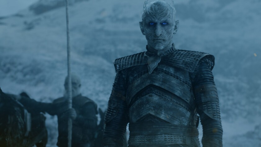 "Vladimir Furdik is the Night King in the ""Game of Thrones'"" episode ""Beyond the Wall."""