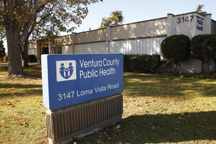 Ventura County Public Health sign outside a building
