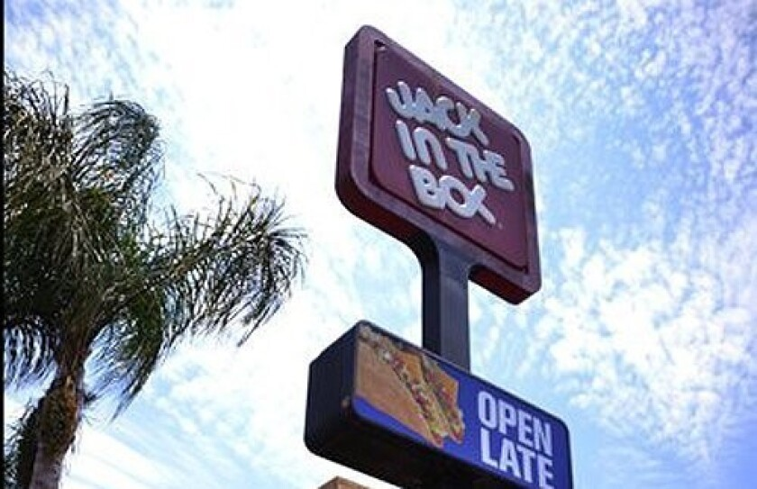 A Jack in the Box sign in San Diego.