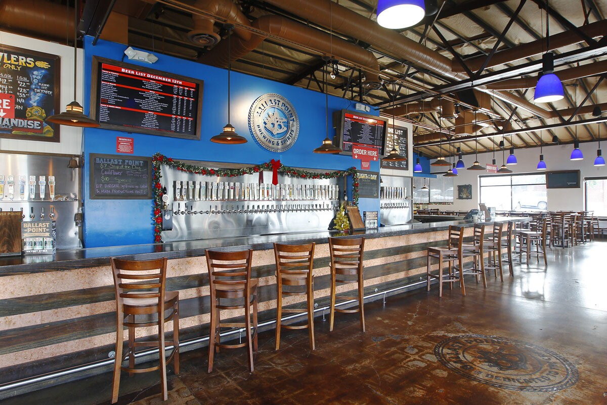Ballast Point Tasting Room & Kitchen in San Diego's Little Italy. (Photo by K.C. Alfred/The San Diego Union-Tribune)