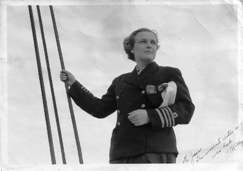 Molly Kool received her captain's papers in 1939 and was the first woman in North America to become a licensed ship captain. She overcame superstitions about women working at sea and won the respect of male counterparts as she sailed her father's 70-foot boat in the dangerous waters of the Bay of Fundy.
