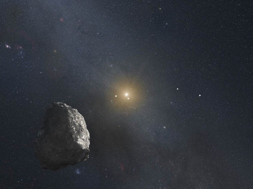 After flying by Pluto, the next stop for New Horizons might be a Kuiper belt object like this, depicted in an artist's rendering.