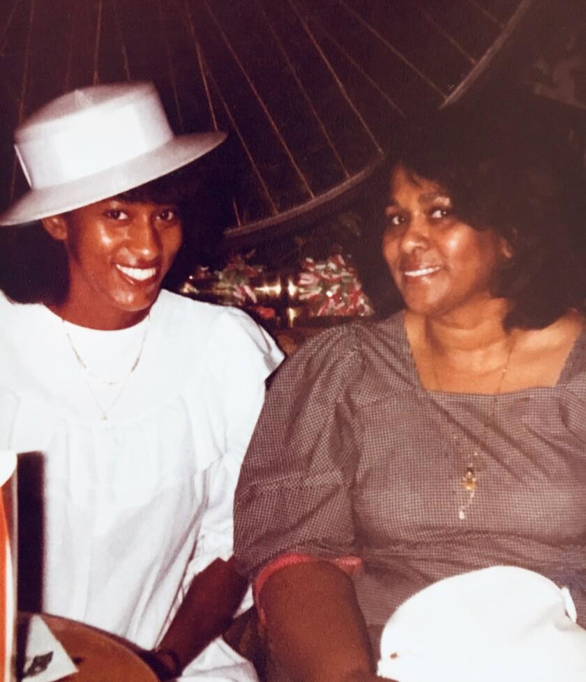 Bridgett Davis, left, with her mother, Fannie Davis.