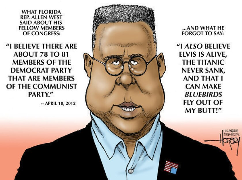 The voice of today's GOP: Allen West says Democrats are commies