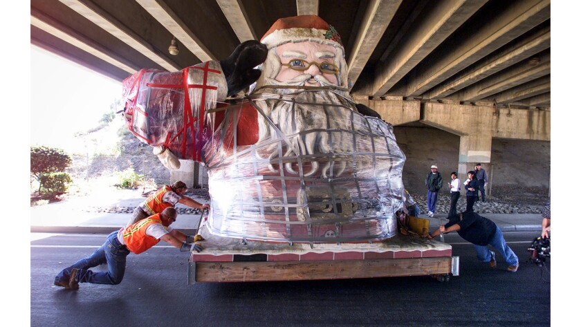 Jan. 29, 2003: Low clearance at the California 33 overpass on West Main Street made it necessary for