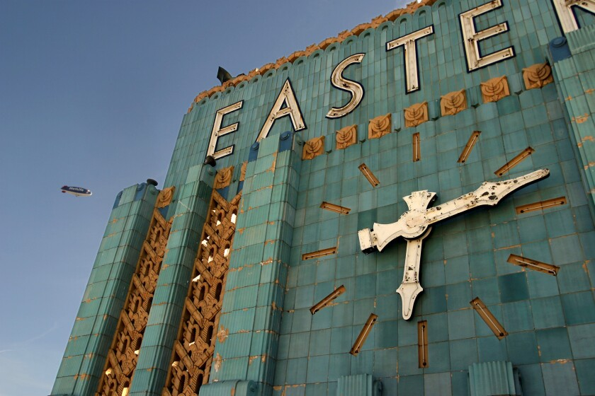 The Eastern Columbia Building is listed on the National Register of Historic Places.