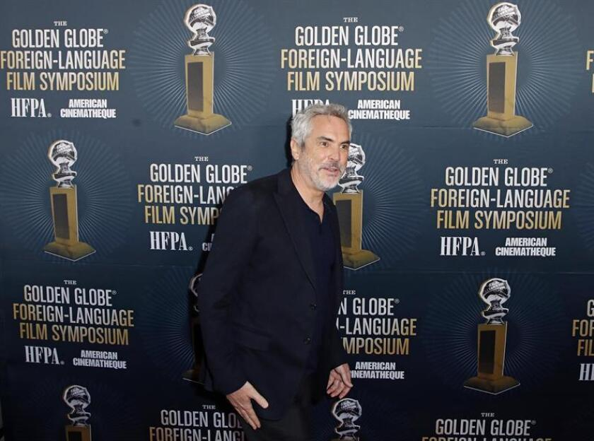 Mexican director Alfonso Cuaron arrives for the 2019 Golden Globe Foreign-Language Film Symposium at the Liaison Restaurant and Lounge, in Hollywood, California, USA. EFE/EPA/FILE