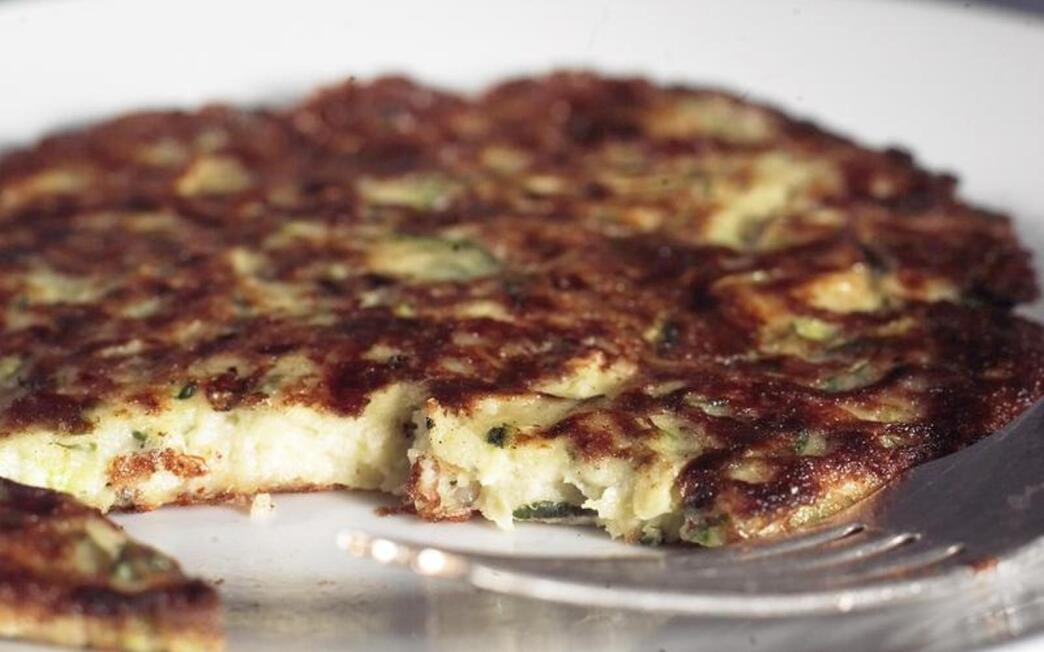 Zucchini, feta and basil frittata