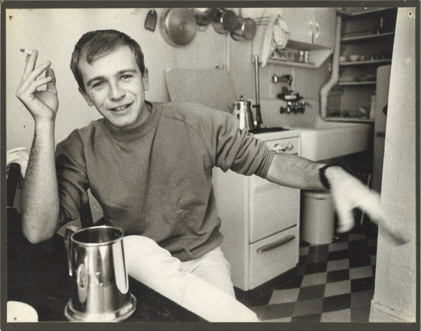 "Terrence McNally in his first apartment, featured in ""American Masters: Terrence McNally: Every Act of Life."""