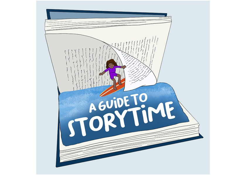 Reading by 9 logo, a guide to story time.