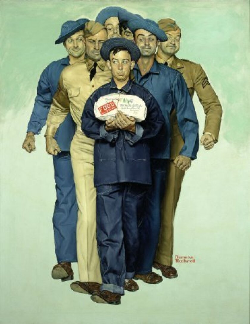 "Norman Rockwell's ""Willie Gillis: Package from Home,"" 1941, is priced at $4.85 million on Amazon Arts. (Amazon.com / August 6, 2013)"